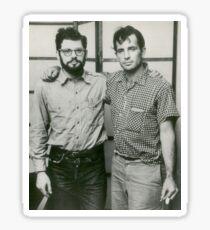 Jack Kerouac and Allen Ginsberg Sticker