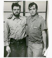 Jack Kerouac and Allen Ginsberg Poster