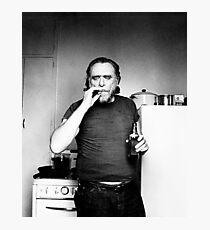 Bukowski Smokes Photographic Print