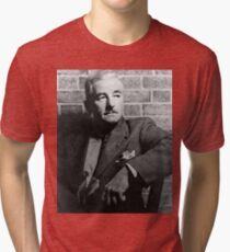 William Faulkner calmly looking at something or nothing at all Tri-blend T-Shirt