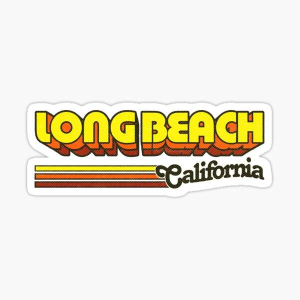 Long Beach, CA | City Stripes Sticker