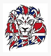 BRITISH, LION, Union Jack, Sport, Big Cat, Cat, Roar, Snarl, King of the Jungle Photographic Print
