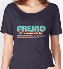 Fresno, CA | City Stripes Women's Relaxed Fit T-Shirt