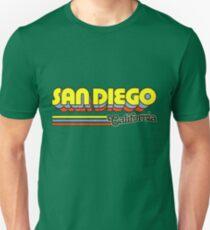 San Diego, CA | Stadt Streifen Slim Fit T-Shirt