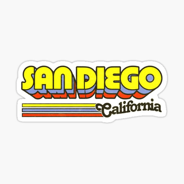 San Diego, CA | City Stripes Sticker