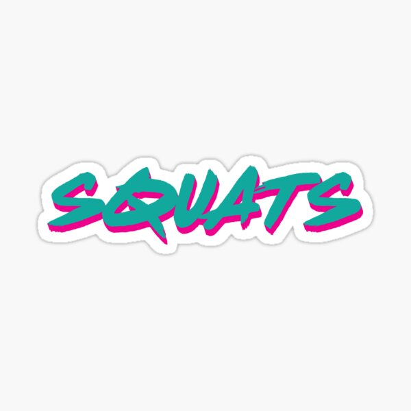 Squats Sticker