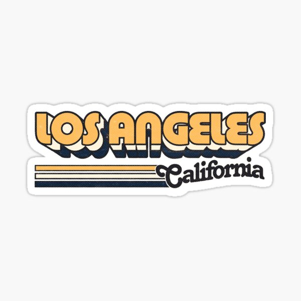 Los Angeles, CA | City Stripes Sticker