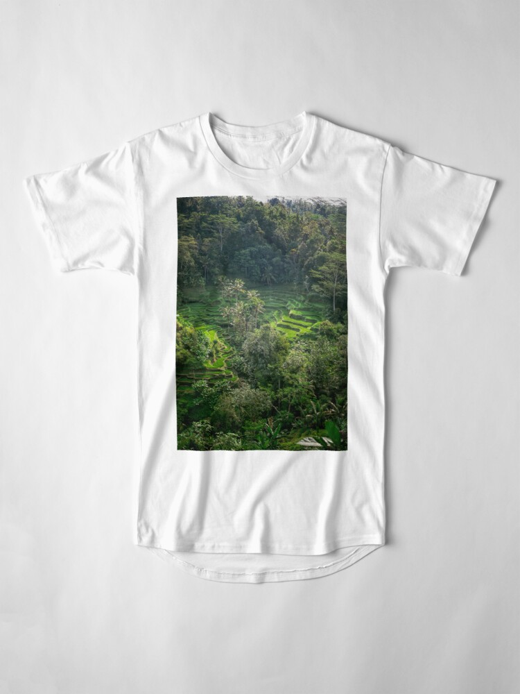 Vista alternativa de Camiseta larga Terraza de arroz de Bali