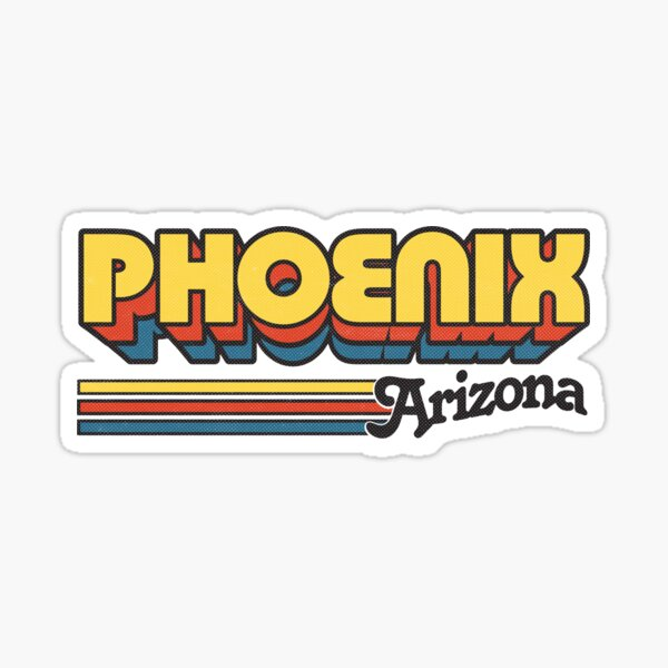 Phoenix, AZ | City Stripes Sticker