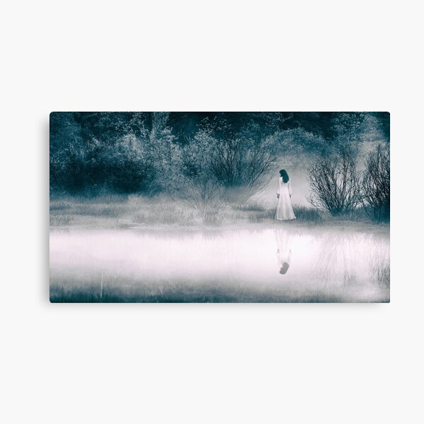 Mysterious Lady at the Lake Canvas Print