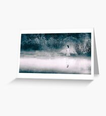 Mysterious Lady at the Lake Greeting Card