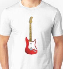 Red Guitar Illustration T-Shirt
