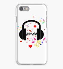 I love music (patterned design) iPhone Case/Skin