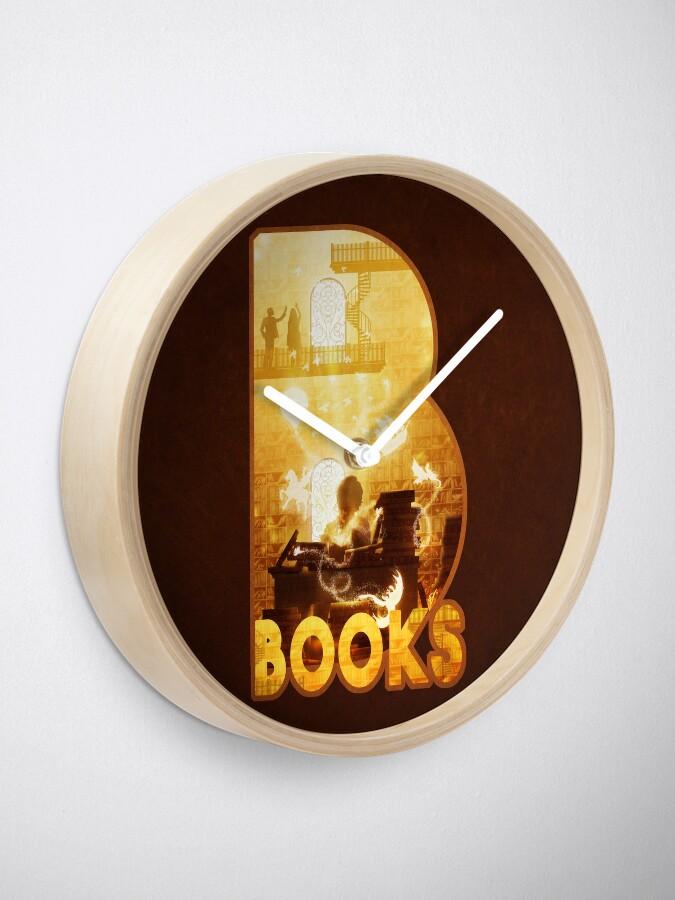 Alternate view of B for Books Clock