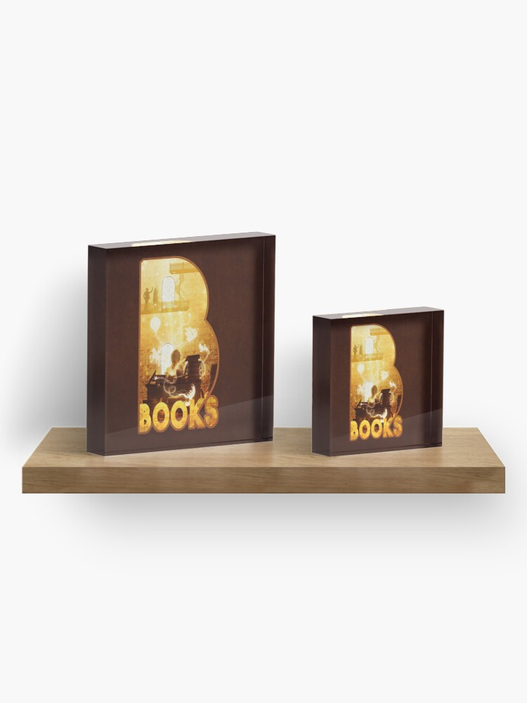 Alternate view of B for Books Acrylic Block
