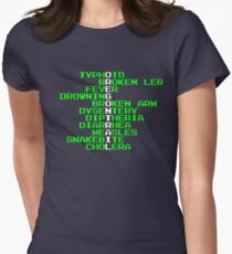Oregon Trail - Ways to Die in the West Women's Fitted T-Shirt