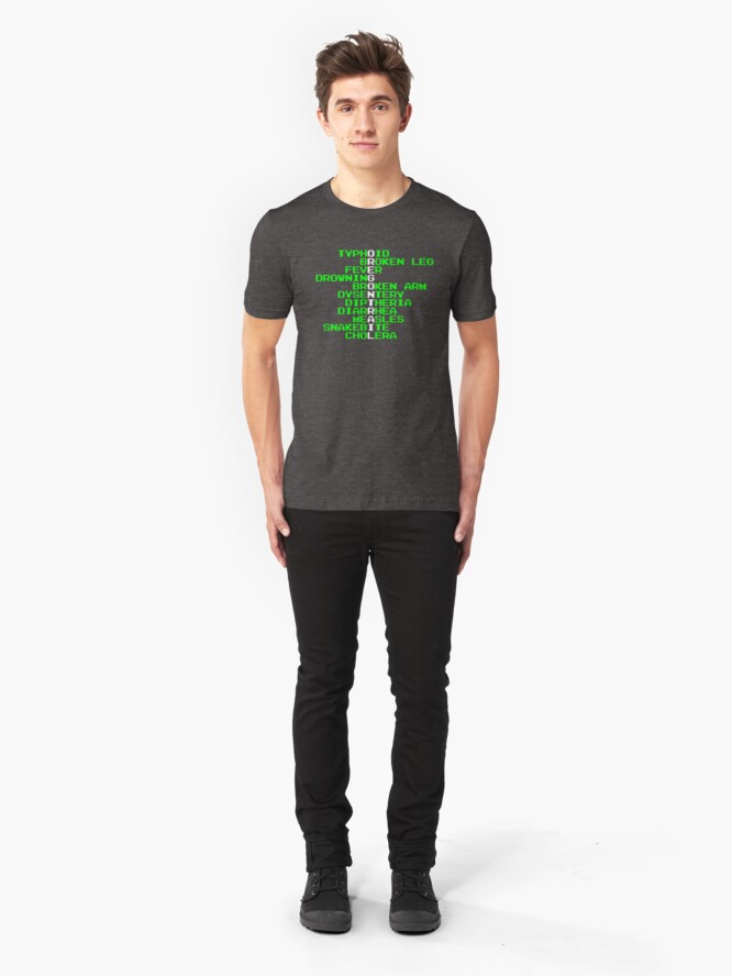 Alternate view of Oregon Trail - Ways to Die in the West Slim Fit T-Shirt