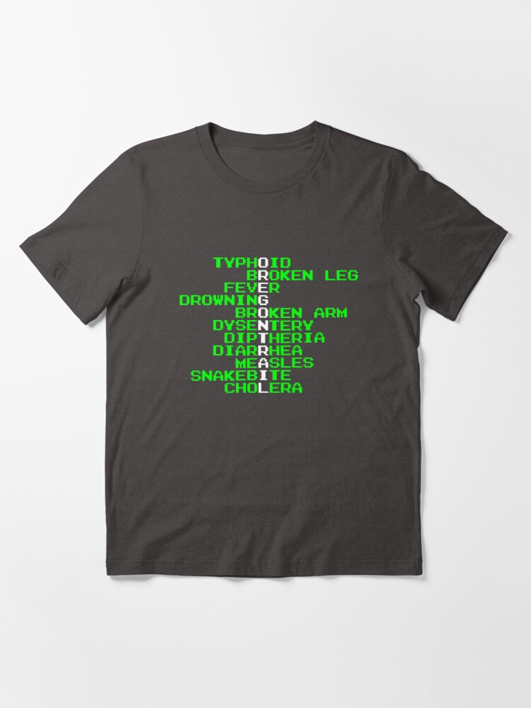 Alternate view of Oregon Trail - Ways to Die in the West Essential T-Shirt
