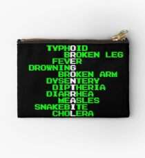 Oregon Trail - Ways to Die in the West Zipper Pouch