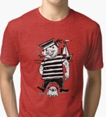 A Sailor And His Pug Ready For Adventure  Tri-blend T-Shirt