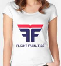 Flight Facilities Logo Women's Fitted Scoop T-Shirt