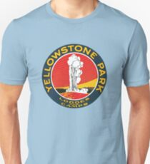 Vintage Yellowstone Park Lodges and Camps, Old Faithful T-Shirt