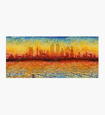 Boston Skyline 8 Photographic Print