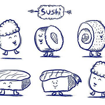 Sushi Doodles by graphicgeoff