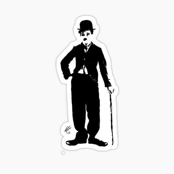 Charlie Chaplin Pegatina