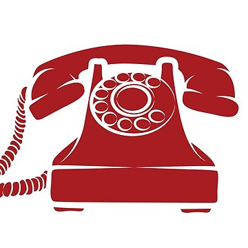 Hotline Red Phone Illustration by graphicgeoff