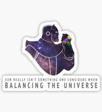 Thanos - Balancing The Universe Sticker