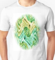 Recycled Smoke Abstract Design T-Shirt