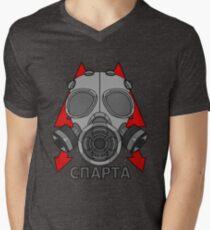 Metro Gasmask (Sparta) Men's V-Neck T-Shirt