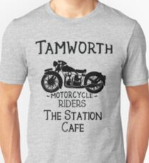 Tamworth Station Cafe-Vintage Motorcycle T-Shirt