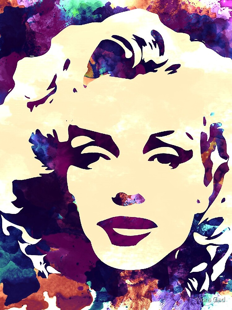 Marilyn Monroe purple colour by NoraMohammed