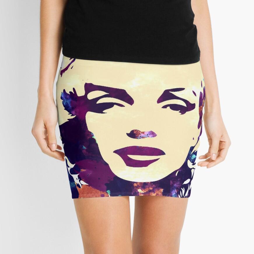 Marilyn Monroe purple colour Mini Skirt