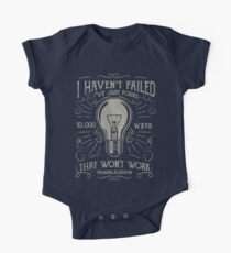 I havent failed. Ive just found 10000 ways that wont work. Thomas A. Edison One Piece - Short Sleeve