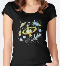 Space Adventure Women's Fitted Scoop T-Shirt