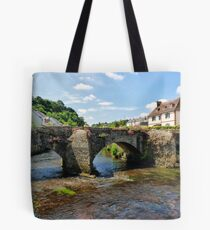 Old Bridge over Elle River Quimperle, France Tote Bag