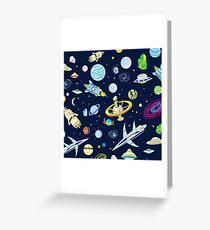 Space Adventure Greeting Card