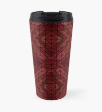 Maroon triangle mosaic Travel Mug