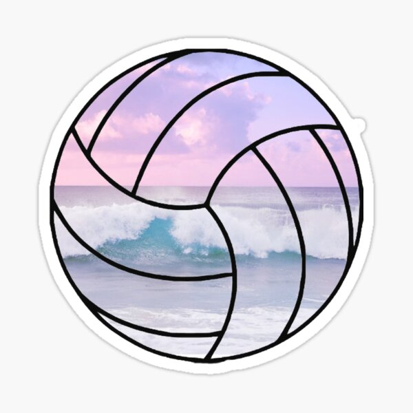 Voleibol de playa pastel Pegatina