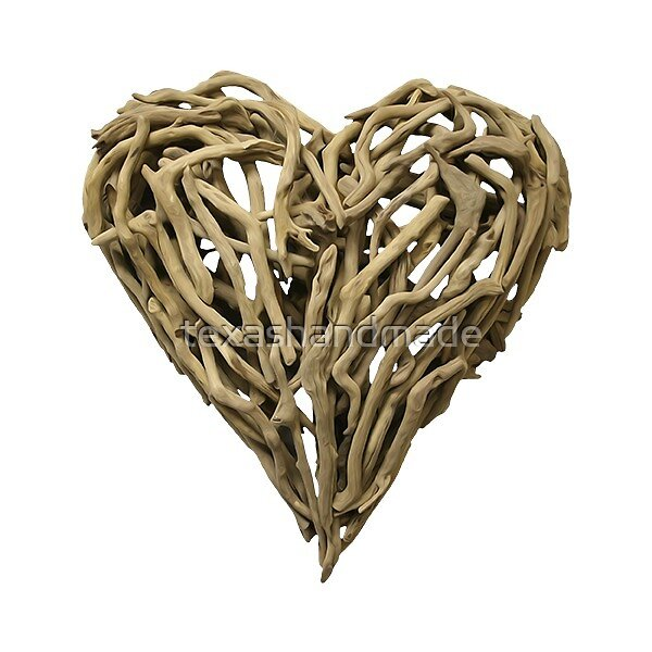 Wood Heart Sticker by texashandmade