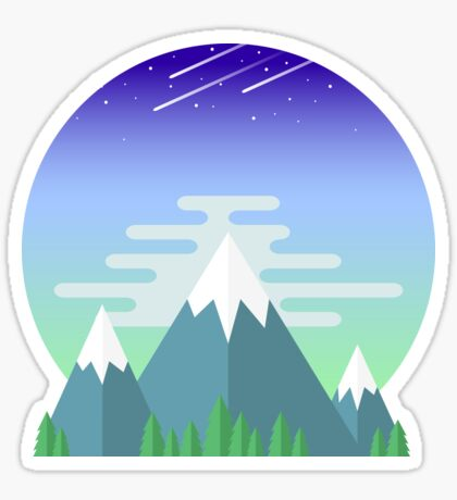 Space Mountians Sticker