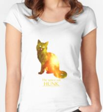 Hunk, the space cat Women's Fitted Scoop T-Shirt