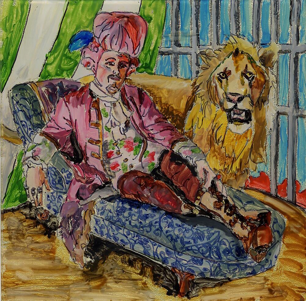 Pompodor and His Cat by Amelia  Santiago