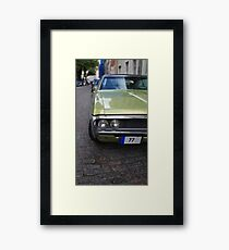 American car on the streets Framed Print