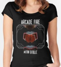 Arcade Fire - Neon Bible Women's Fitted Scoop T-Shirt