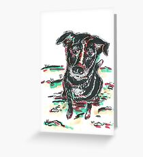 Marker Critters - Labrador Greeting Card