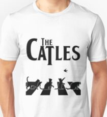 The Catles - Funny Cats on Abbey Road Crosswalk T-Shirt